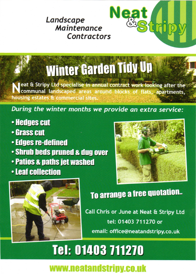 Winter Garden Tidy Up Leaflet